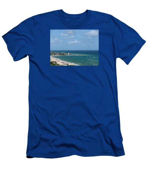 Lighthouse And Kiteboarding Men's T-Shirt (Athletic Fit)