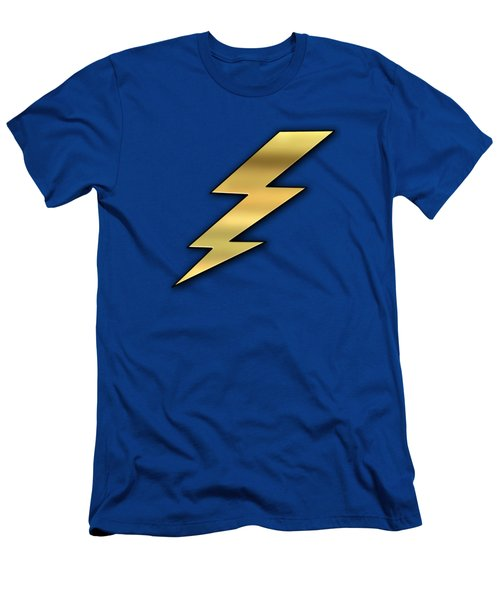 Men's T-Shirt (Slim Fit) featuring the digital art Lightning Transparent by Chuck Staley
