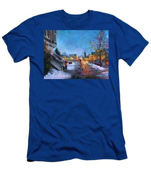 Lights On Elmwood Ave Men's T-Shirt (Athletic Fit)