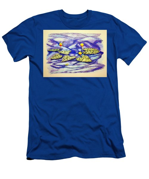 Lily Pad Pond Men's T-Shirt (Slim Fit) by J R Seymour