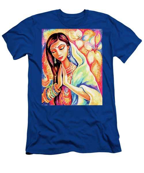 Men's T-Shirt (Slim Fit) featuring the painting Little Himalayan Pray by Eva Campbell