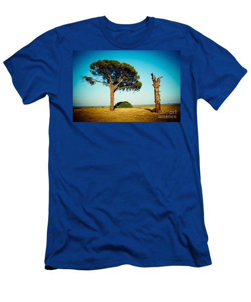 Live And Dead Tree At Seacoast Men's T-Shirt (Athletic Fit)