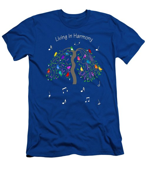 Living In Harmony Men's T-Shirt (Slim Fit) by Methune Hively