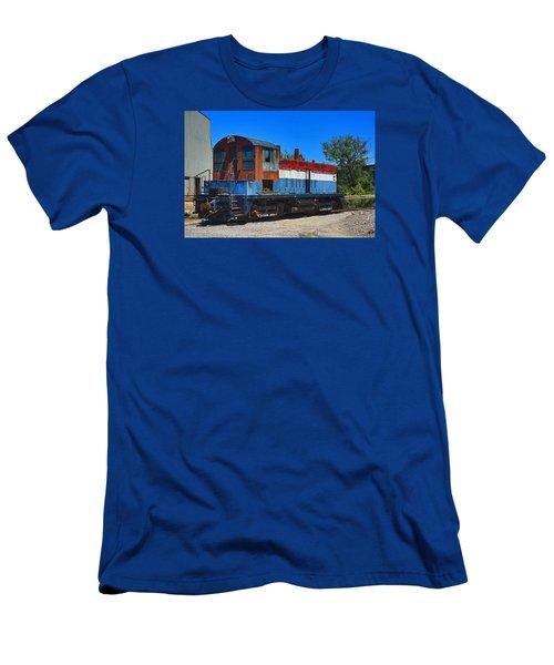 Locomotive Men's T-Shirt (Slim Fit) by Ronald Olivier