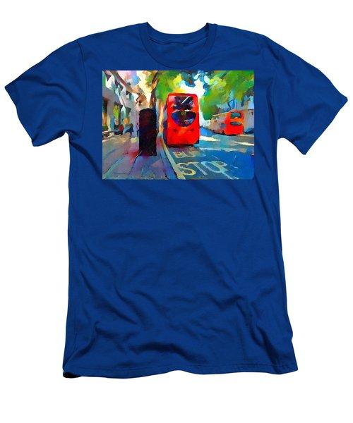 London Bus Stop Men's T-Shirt (Athletic Fit)