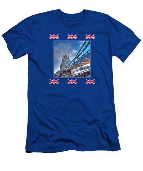 London Landmark - Tower Bridge Men's T-Shirt (Athletic Fit)