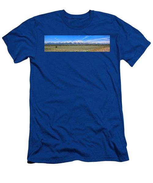 Lone Tree And The Tetons Men's T-Shirt (Athletic Fit)