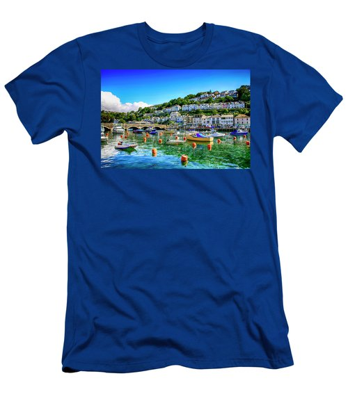 Looe In Cornwall Uk Men's T-Shirt (Athletic Fit)