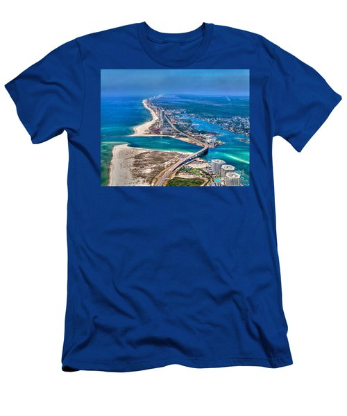 Men's T-Shirt (Athletic Fit) featuring the photograph Looking West Across Perdio Pass by Gulf Coast Aerials -