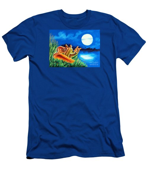 Men's T-Shirt (Slim Fit) featuring the painting Love And Affection by Ragunath Venkatraman