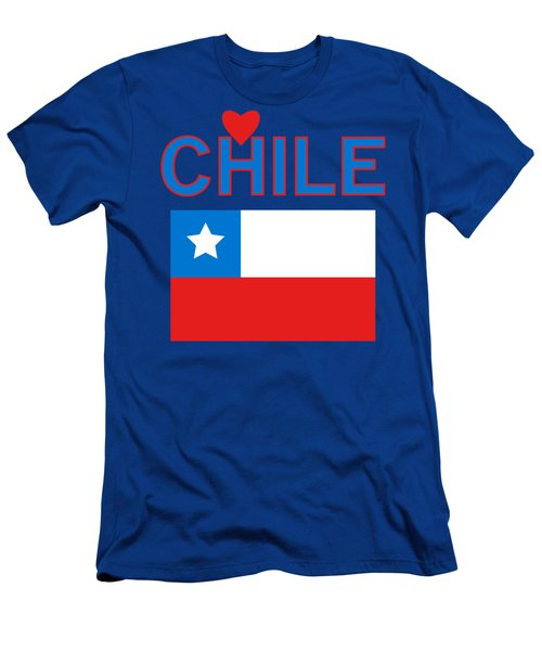 Men's T-Shirt (Athletic Fit) featuring the photograph Love Chile by David Millenheft