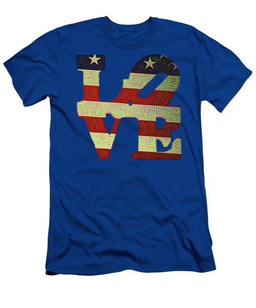 Men's T-Shirt (Slim Fit) featuring the painting Love The Usa by Bill Cannon