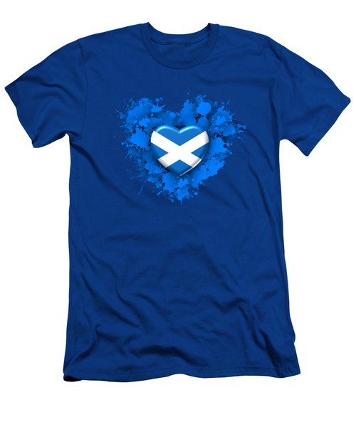 Love To Scotland. 1 Men's T-Shirt (Athletic Fit)