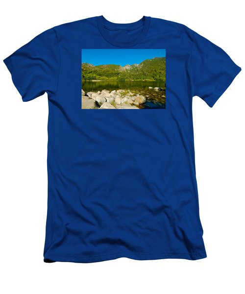 Lower Bells Canyon Reservoir Men's T-Shirt (Slim Fit) by Dan Miller