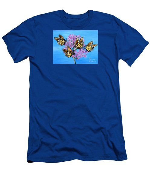 Butterfly Feeding Frenzy Men's T-Shirt (Athletic Fit)