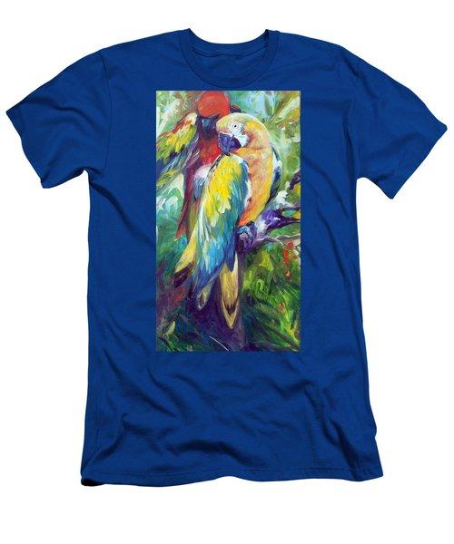 Macaw Pair Men's T-Shirt (Athletic Fit)
