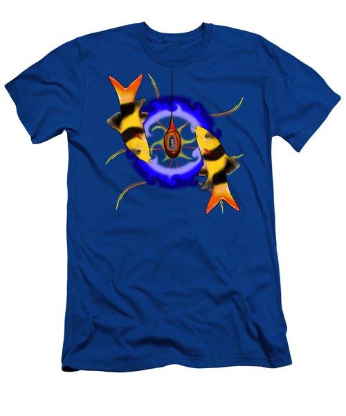 Macrachantis V1 - Colourful Fish Men's T-Shirt (Athletic Fit)