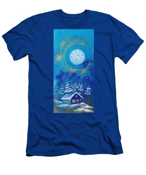 Magical Night At The Cabin Men's T-Shirt (Athletic Fit)