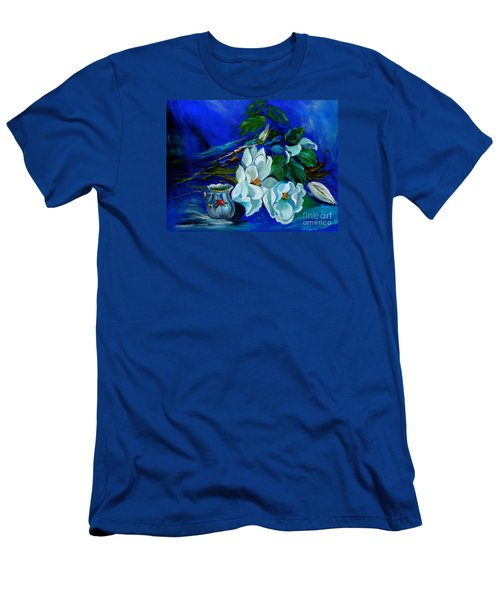Magnolias And Cream Men's T-Shirt (Slim Fit) by Jenny Lee