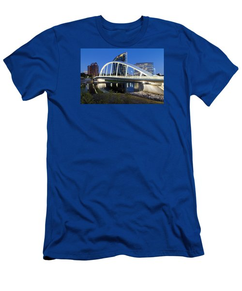Main Street Bridge Columbus Men's T-Shirt (Slim Fit) by Alan Raasch