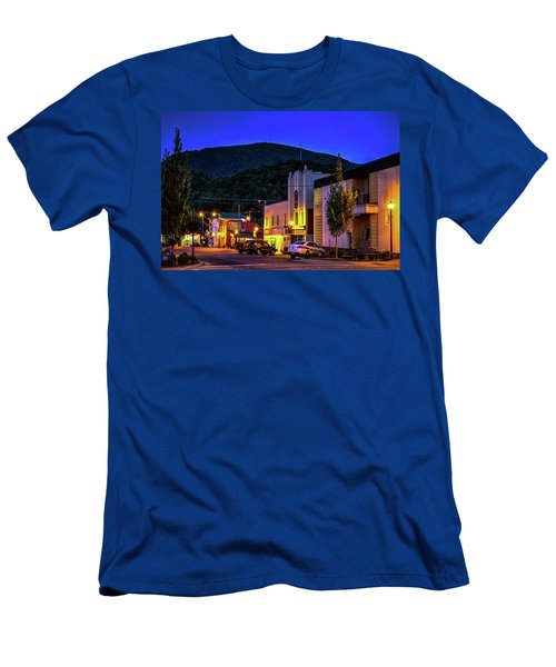 Main Street Lights Men's T-Shirt (Slim Fit) by Dale R Carlson
