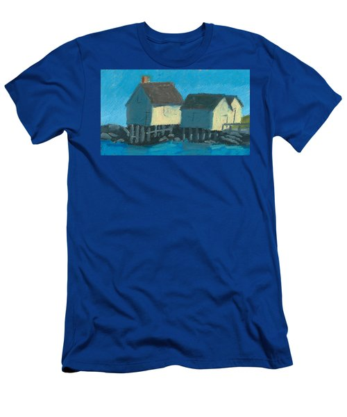 Maine Beach Fishing Shacks Men's T-Shirt (Athletic Fit)