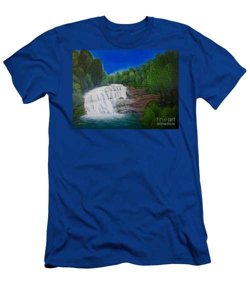 Majestic Bald River Falls Of Appalachia II Men's T-Shirt (Athletic Fit)