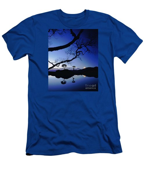 Makalu Nepal At Sunset Men's T-Shirt (Slim Fit) by Rudi Prott