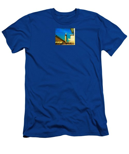 Men's T-Shirt (Slim Fit) featuring the photograph Malamoccoskyline No1 by Anne Kotan