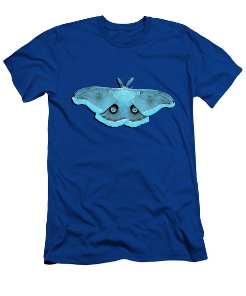 Men's T-Shirt (Slim Fit) featuring the photograph Male Moth Aqua .png by Al Powell Photography USA