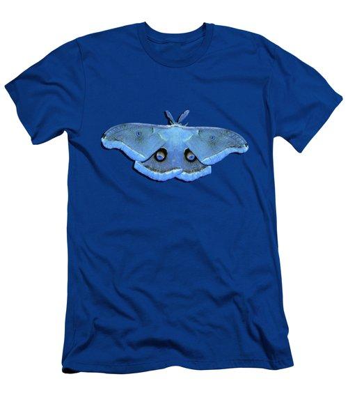 Male Moth Light Blue .png Men's T-Shirt (Athletic Fit)