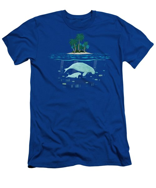 Manatee Island Men's T-Shirt (Athletic Fit)