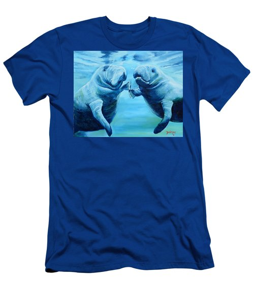 Manatees Socializing Men's T-Shirt (Athletic Fit)