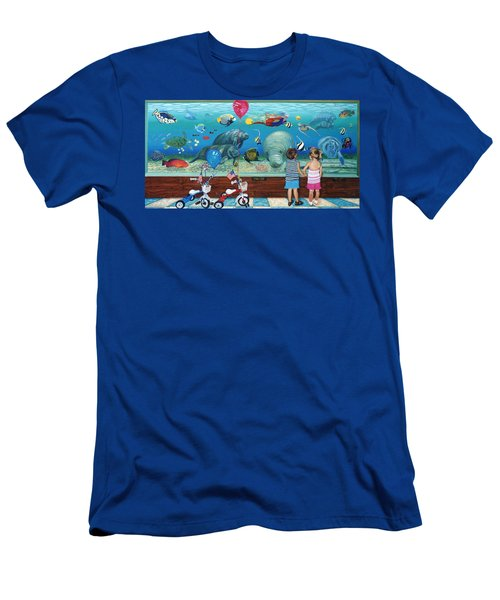 Manitee Aquarium With My Twins Men's T-Shirt (Athletic Fit)
