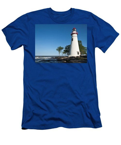 Marblehead Lighthouse Men's T-Shirt (Athletic Fit)