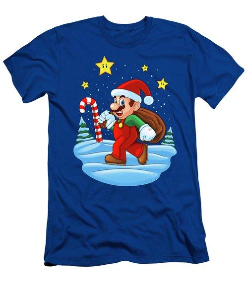 Mario Xmas Men's T-Shirt (Athletic Fit)