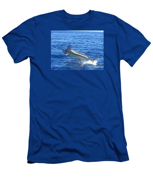 Marlin On The Line Men's T-Shirt (Slim Fit) by Merton Allen