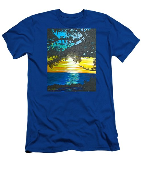 Maui Sunset Men's T-Shirt (Slim Fit) by Donna Blossom