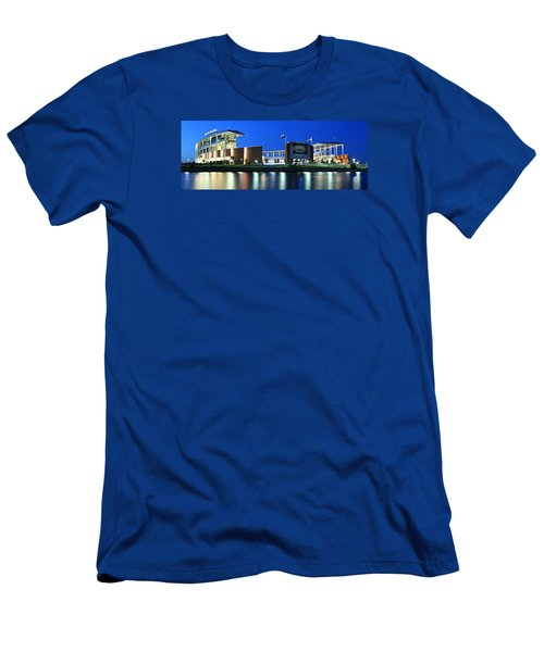 Mclane Stadium Panoramic Men's T-Shirt (Slim Fit) by Stephen Stookey