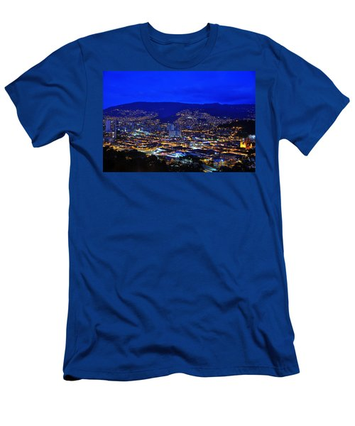Medellin Colombia At Night Men's T-Shirt (Athletic Fit)