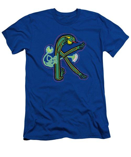Medieval Frog Letter K Men's T-Shirt (Athletic Fit)
