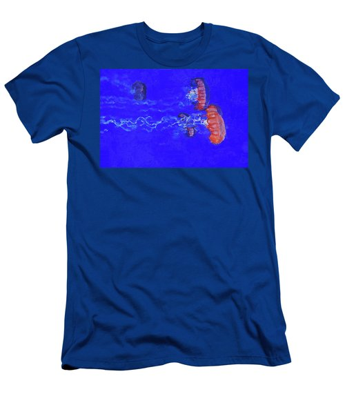 Men's T-Shirt (Athletic Fit) featuring the digital art Medusas Jellyfishes by PixBreak Art