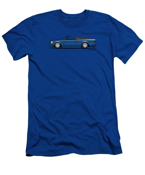 Mercedes Benz Carlsson A124 W124 300e E-class Blue Cabrio Men's T-Shirt (Athletic Fit)