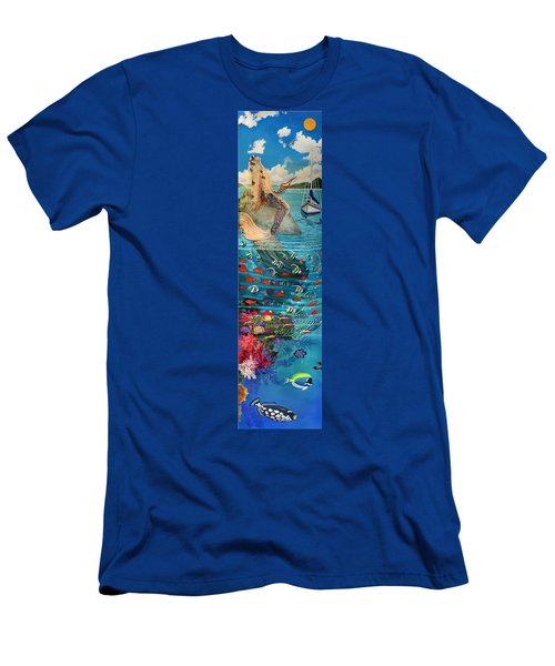 Mermaid In Paradise Men's T-Shirt (Athletic Fit)