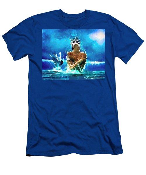Mermaid Under The Moonlight Men's T-Shirt (Athletic Fit)