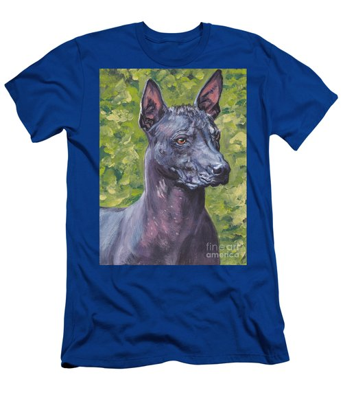 Men's T-Shirt (Slim Fit) featuring the painting Mexican Hairless Dog Standard Xolo by Lee Ann Shepard