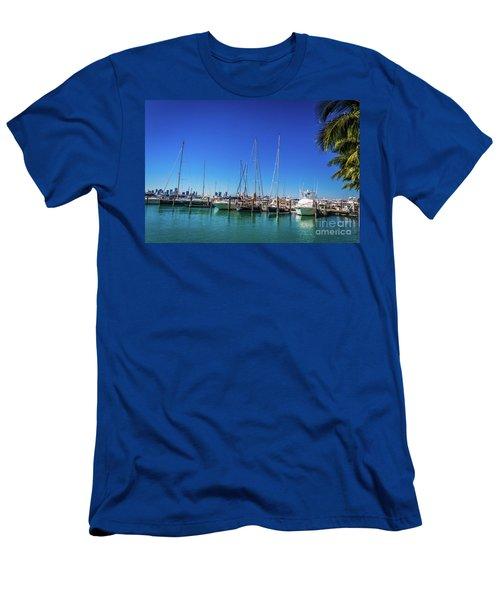 Miami Beach Marina 4509 Men's T-Shirt (Athletic Fit)