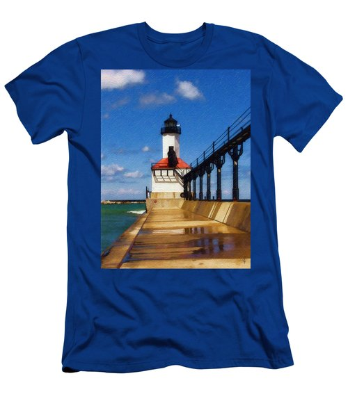 Michigan City Light 1 Men's T-Shirt (Athletic Fit)