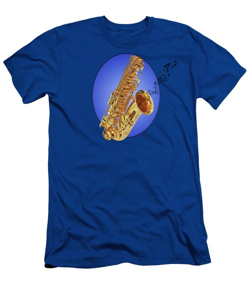 Midnight Blues Men's T-Shirt (Slim Fit) by Gill Billington