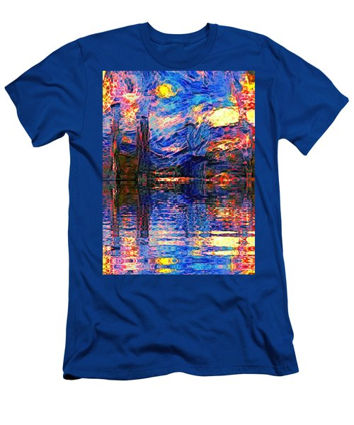 Midnight Oasis Men's T-Shirt (Slim Fit) by Holly Martinson
